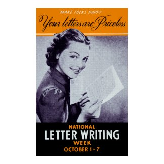Vintage Letter Writing Posters