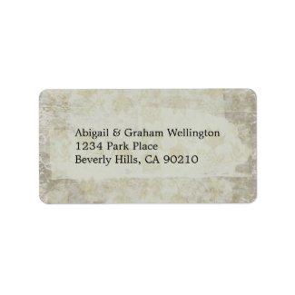 Vintage Look Wedding RSVP Address Labels