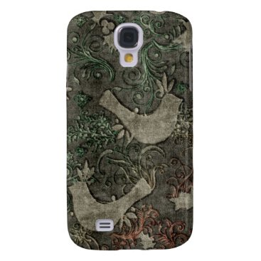 Vintage LoveBirds Embossed Print Case HTC Vivid
