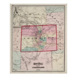 Vintage Map of Colorado (1873) Poster