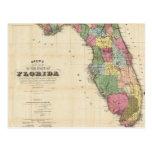 Vintage Map of Florida (1870) Postcard