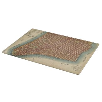 Vintage Map of Lower New York City (1807) Cutting Boards