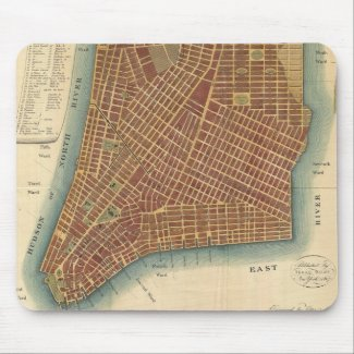 Vintage Map of Lower New York City (1807) Mouse Pad