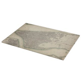 Vintage Map of Lower New York City (1840) Cutting Board