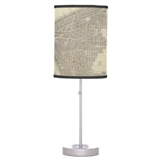 Vintage Map of Lower New York City (1840) Table Lamps