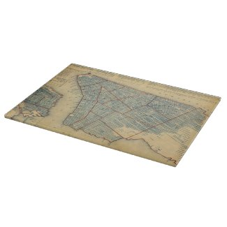 Vintage Map of New York City (1846) Cutting Board