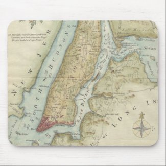 Vintage Map of New York City (1869) Mouse Pad