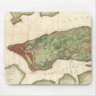 Vintage Map of New York City (1878) Mouse Pad
