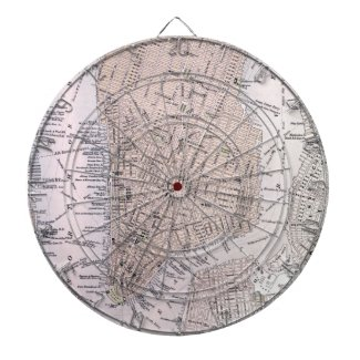 Vintage Map of New York City (1884) Dartboards