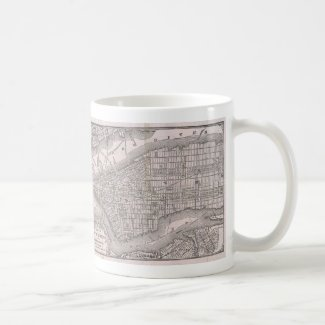 Vintage Map of New York City (1886) Coffee Mug