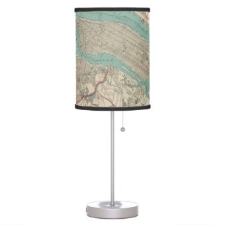 Vintage Map of New York City (1890) Table Lamp