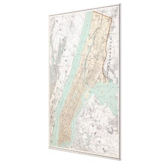 Vintage Map of New York City (1895) Canvas Print
