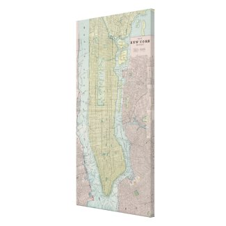 Vintage Map of New York City (1901) Stretched Canvas Print