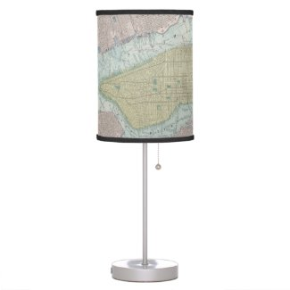 Vintage Map of New York City (1901) Desk Lamp