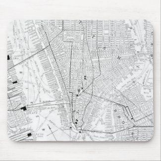 Vintage Map of New York City (1911) Mouse Pad