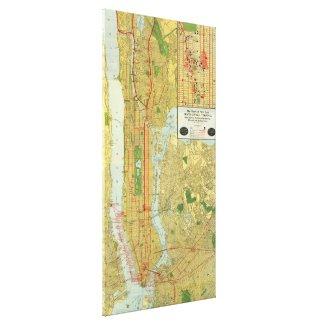 Vintage Map of New York City (1918) Canvas Print
