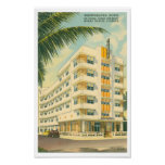 Vintage Miami Art Deco travel Poster