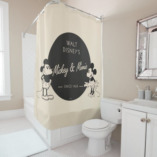 vintage mickey minnie shower curtain zazzle com