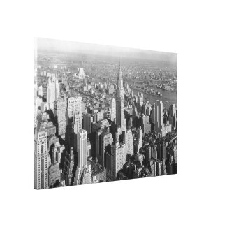 Vintage Midtown Manhattan Photograph Canvas Print