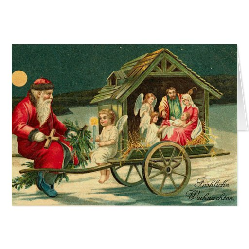 Vintage Nativity Christmas Card Zazzle