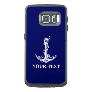 Vintage Nautical Anchor Rope Boat Name OtterBox Samsung Galaxy S6 Edge Case