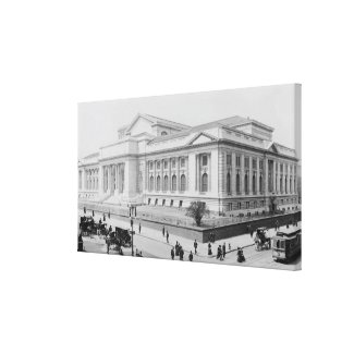Vintage New York Public Library Photograph (1908) Canvas Print