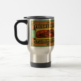 Vintage Newfoundland Lobster Travel Mug