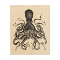 Octopus Wood Wall Art | Zazzle