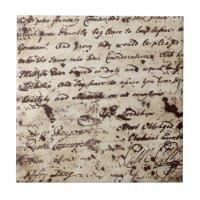 Vintage Old letter Ceramic Tile | Zazzle