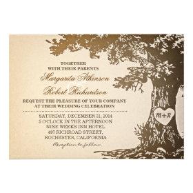 Vine Old Oak Tree Wedding Invitations