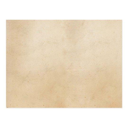 Vintage Paper Antique Parchment Template Blank Postcard