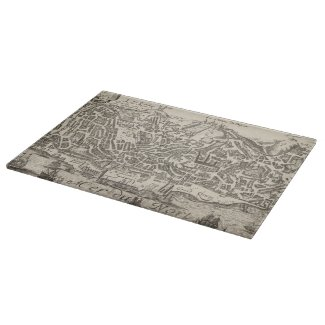 Vintage Pictorial Map of New York City (1672) Cutting Board