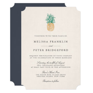 Pineapple Fashion Motif Printable Invitations