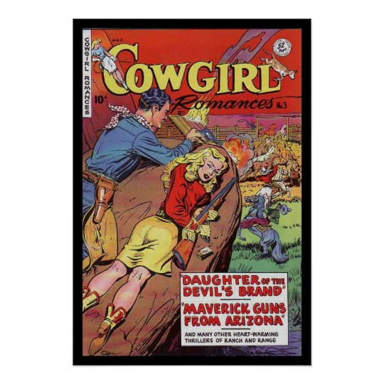 Vintage Poster Comic Book Covers Cowgirl  Zazzle