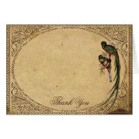 Vintage Quetzal Bird Elegant Thank You card