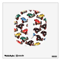Car Racing Wall Decals & Wall Stickers | Zazzle