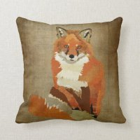 Vintage Red Fox Pillow | Zazzle