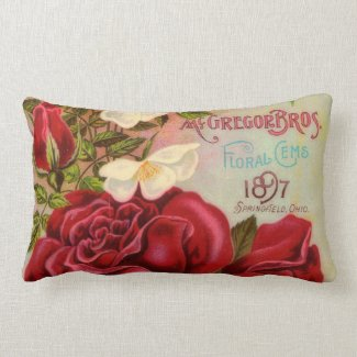 Vintage Roses Catalog Cover American MoJo Pillow