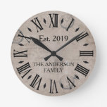 Vintage Rustic Antique Distressed Watch Retro Round Clock