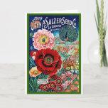 ❤️ Vintage Seed Catalog Red Poppy Postcard