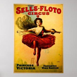 Vintage Sells-Floto Circus Poster