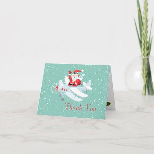 Vintage style Santa - pilot Christmas Thank You