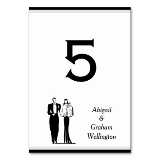 Vintage Style Table Number Card