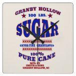 Vintage Sugar Advertisement Wall Clock