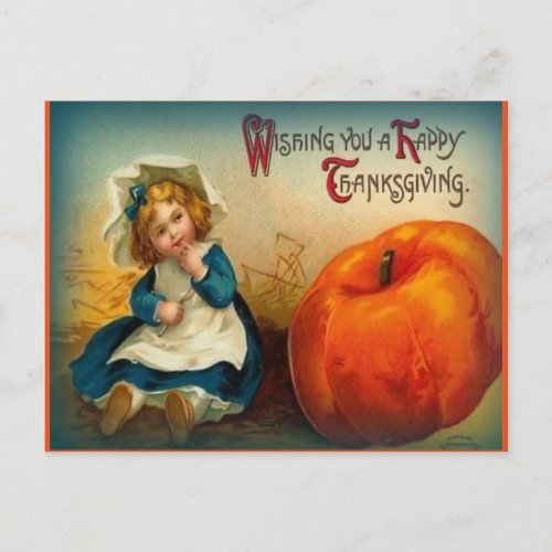 Vintage Thanksgiving Holiday Postcard