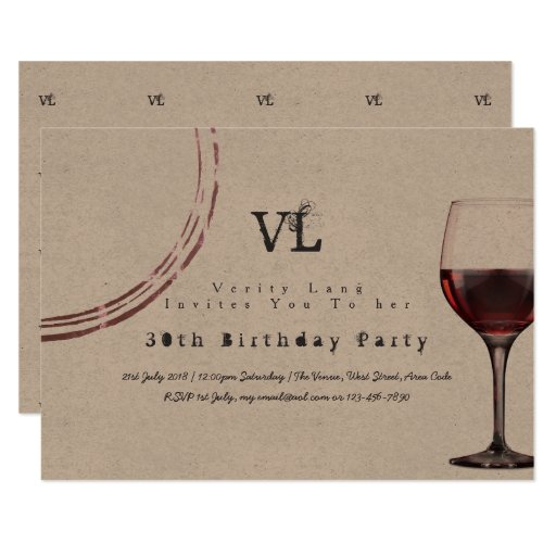 Vintage Typewriter Birthday Invites 30th 40th 50th