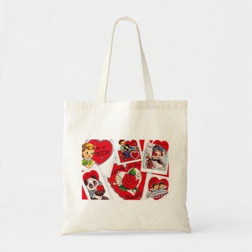 Vintage Valentines Tote for Teacher bag