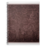 Vintage Victorian Grunge - Chocolate Swirls notebooks