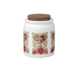 Vintage Victorian Valentine Candy Jars
