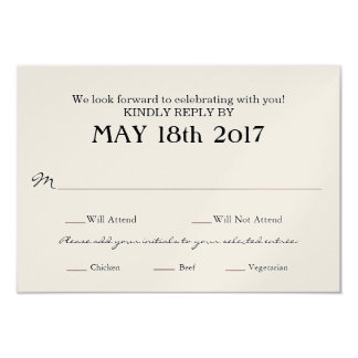Vine Wedding Rsvp Card With Meal Selections